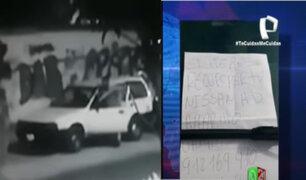 """Roban vehículo y dejan nota al dueño: """"Si quieres recuperar tu auto llama al (...)"""""""