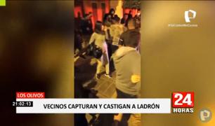 Los Olivos: vecinos cansados de la delincuencia capturan y castigan a ladrón