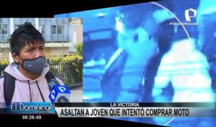 La Victoria: delincuentes asaltan a joven que intentó comprar moto por internet