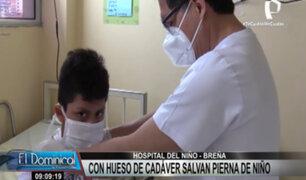 INSN Breña: médicos salvan pierna de niño con implante de hueso de cadáver