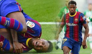 Barcelona: Ansu Fati sufrió rotura del menisco