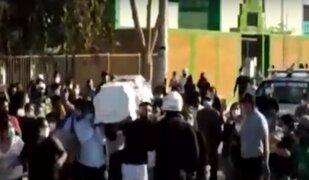 Cortejo fúnebre acabó en enfrentamiento con la Policía en Chiclayo