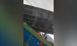 Vientos huracanados en Pucallpa derribaron techos y árboles