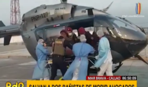 Callao: policías salvan a bañistas que se ahogaban en playa 'Mar Brava'