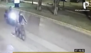 San Borja: buscan a motorizado que realizó tocamientos a ciclista y casi causa accidente