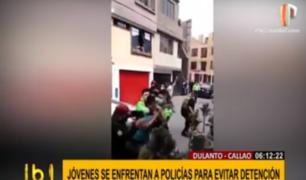 Callao: intervienen a jóvenes que no respetaron distanciamiento y se enfrentaron a policías