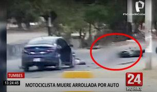 Tumbes: accidente entre una moto y un auto causó la muerte de una mujer