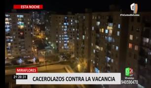 'Cacerolazo' tras vacancia presidencial de Martín Vizcarra