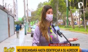 San Borja: policía sigue a la búsqueda de motorizado que agredió sexualmente a ciclista