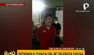 'Chacalón Jr.': encuentran a cantante con 65 personas en fiesta chicha clandestina