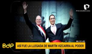 Así fue la llegada de Martín Vizcarra al Poder Ejecutivo