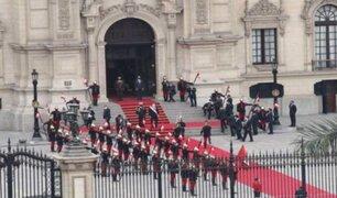 Así fue llegada de Manuel Merino a Palacio de Gobierno tras jurar como presidente