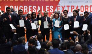 Somos Perú: renuncian a bancada 4 congresistas que votaron a favor de vacancia