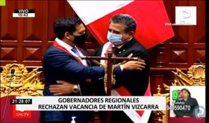 Gobernadores regionales se mostraron en contra de vacancia presidencial