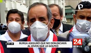 Congresista Ricardo Burga aseguró que no denunciará al joven que lo golpeó