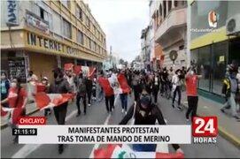 Día 2: Marchas y protestas se intensificaron en el interior del país contra vacancia presidencial