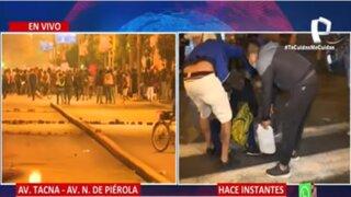 Protestas de noche: Manifestantes y PNP se enfrentaron en el Centro de Lima