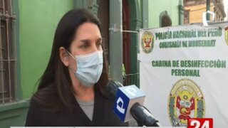 Carolina Lizárraga visitó comisarías para ver situación de detenidos durante manifestación