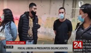 Cercado de Lima: fiscal libera a 5 delincuentes pese a encontrarles armas de fuego y droga