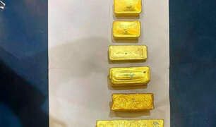 Incautan más de US$ 1 millón en barras de oro que tenían como destino Dubái