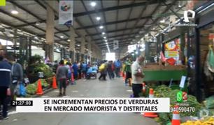 EMMSA descartó posible desabastecimiento de hortalizas en Mercado Mayorista de Lima