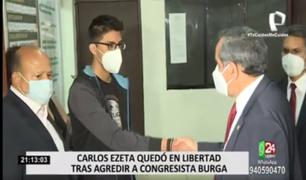 Archivan denuncia por resistencia a la autoridad contra joven que agredió a Ricardo Burga