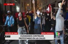 Vacancia presidencial: Marchas y cacerolazos se registraron en distintos distritos de Lima