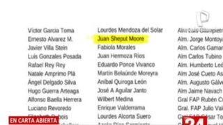 Envían carta abierta en apoyo al presidente Manuel Merino