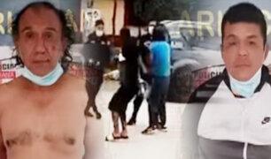 Sujetos golpean a policiales para evitar detención