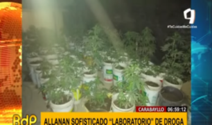 Carabayllo: policía allanó todo un laboratorio de droga al interior de vivienda