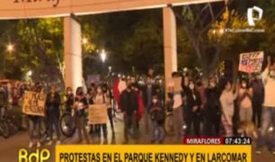 Miraflores: parque Kennedy y Larcomar también fueron escenario de protestas
