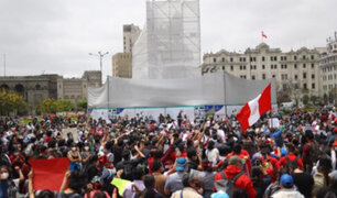 Marcha nacional: manifestantes protestan en plaza San Martín contra nuevo Gobierno