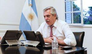 Argentina: presidente Alberto Fernández aislado tras contacto con positivo a COVID-19