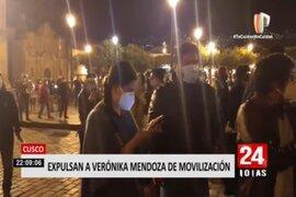Verónica Mendoza y Ollanta Humala expulsados por manifestantes de marchas