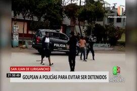 SJL: denuncian por resistencia y desacato a sujetos que agredieron a policías durante intervención