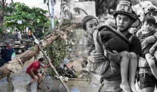 """Más de 10 muertos deja tifón """"Vamco"""" en Filipinas"""