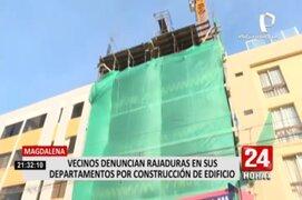 Magdalena: vecinos denuncian daños en sus departamentos por obra