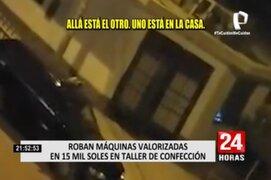 Puente Piedra: vecinos registraron robo a taller textil e hicieron huir a ladrones