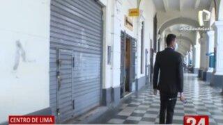 Centro de Lima: Comercios no abrieron por temor a nuevas protestas