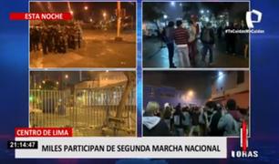 Así se desarrolla la segunda Marcha Nacional en el Centro de Lima