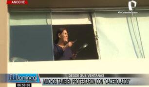 Cacerolazo masivo en Lima: ciudadanos también protestaron desde sus ventanas
