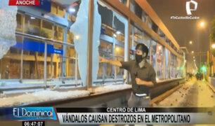 Metropolitano: así quedó la estación Colmena tras enfrentamientos durante marcha