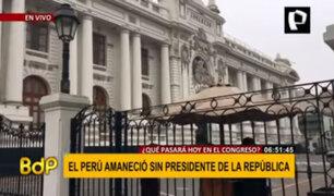 El Perú amaneció sin presidente de la República