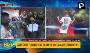 Inti Sotelo: ciudadanía colma de arreglos florales velatorio en el Rímac
