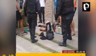Los Olivos: capturan y golpean a ladrón que intentó robarle a mujer