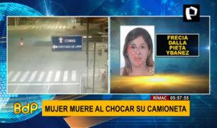 Rímac: mujer falleció tras ser impactada por una camioneta