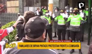 SMP: Familiares de Bryan Pintado protestan frente a comisaría
