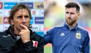 Perú vs. Argentina: Gareca descarta que se realice una marca personal a Lionel Messi