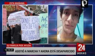 Desaparecido en marcha: familiares de Luis Fernando Araujo siguen buscándolo