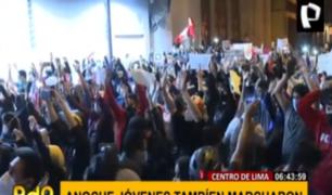 Centro de Lima: jóvenes volvieron a las calles para alzar su voz contra la corrupción